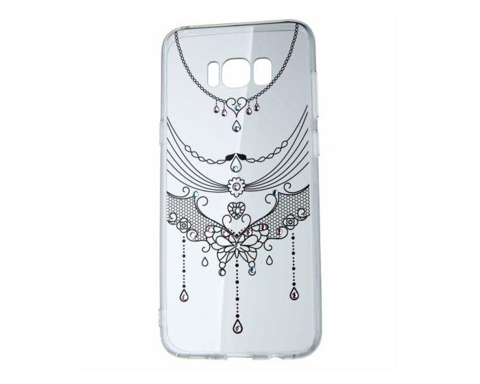 VENNUS ART Strass TPU Case Θήκη Σιλικόνης με Στρας - Decoration Black (Samsung Galaxy S8)
