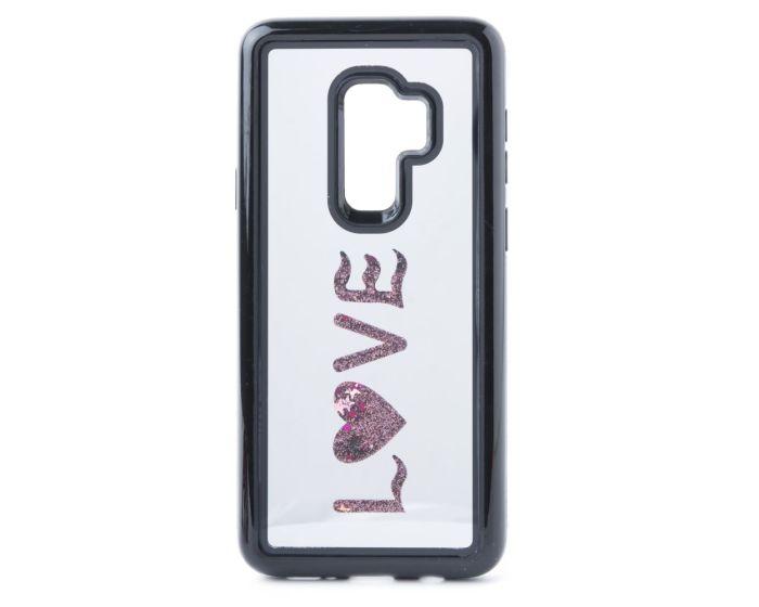 Vennus Mirror Water Case Glitter Love (Samsung Galaxy S9 Plus)