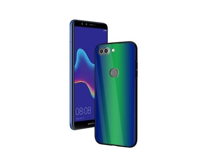 Vennus Glass Reflect Case Πράσινο / Μπλε (Huawei Y9 2018)