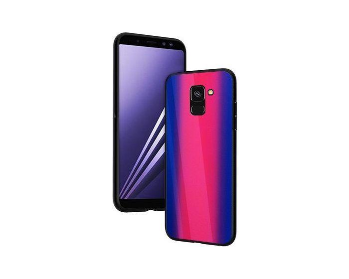 Vennus Glass Reflect Case Φούξια / Μπλε (Samsung Galaxy A8 Plus 2018)