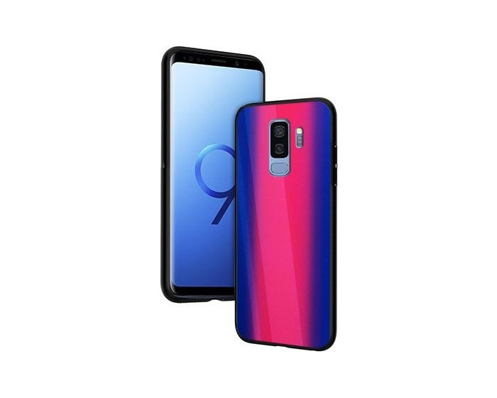Vennus Glass Reflect Case Φούξια / Μπλε (Samsung Galaxy S9 Plus)