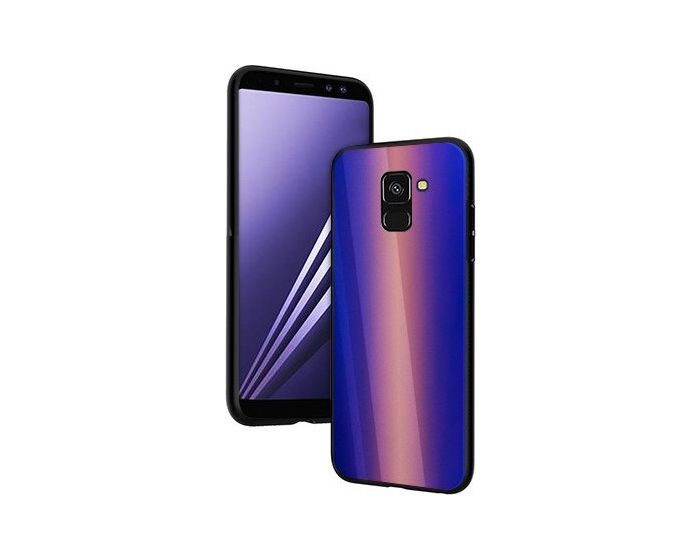 Vennus Glass Reflect Case Κίτρινο / Μπλε (Samsung Galaxy A8 Plus 2018)