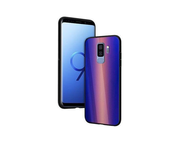 Vennus Glass Reflect Case Κίτρινο / Μπλε (Samsung Galaxy S9 Plus)