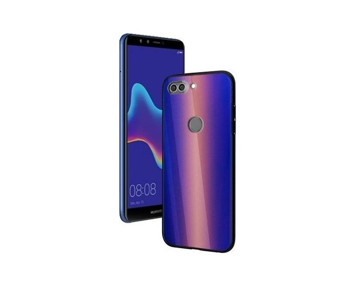 Vennus Glass Reflect Case Κίτρινο / Μπλε (Huawei Y9 2018)
