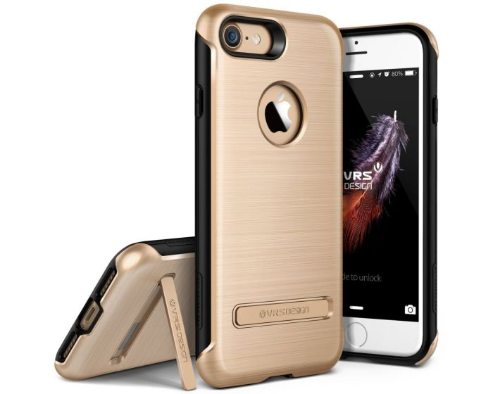 VRS Design Rugged Duo Guard Case + Tempered Glass Champagne Gold (iPhone 7 / 8)
