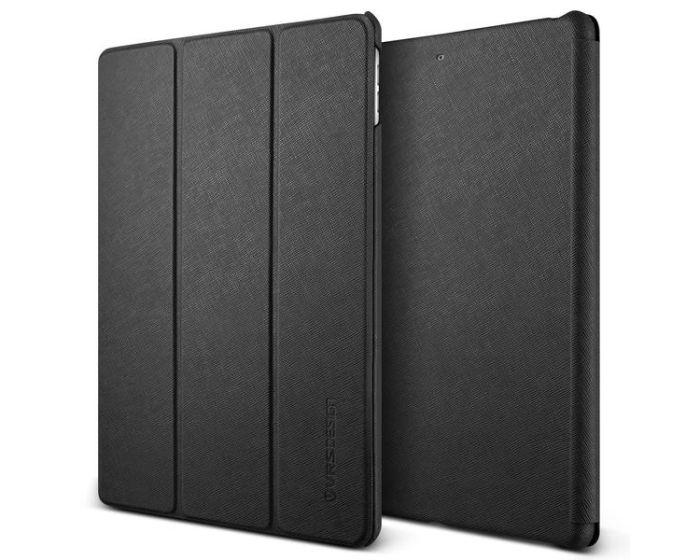 Verus Saffiano Diary Smart Cover Case (VRSIPN-SFARD) με δυνατότητα Stand Black (iPad 9.7'' 2017 / 2018)