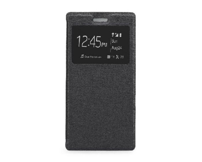 Forcell S View Flexi Flip Case Black (Huawei Ascend P8)
