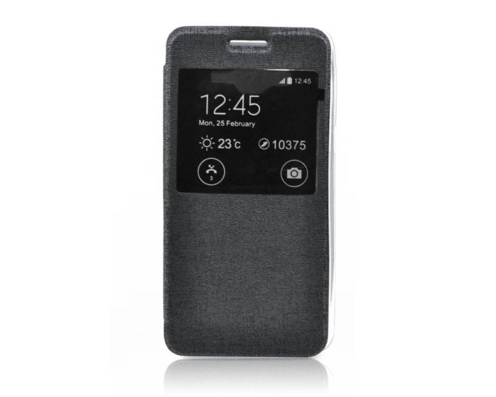 Forcell S View Flexi Flip Case Black (Sony Xperia Z5 Compact)