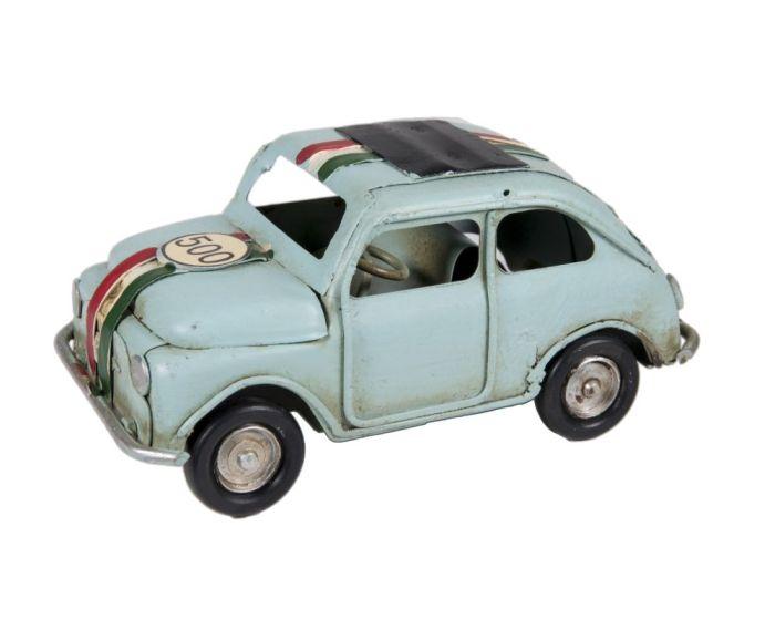 Vintage Διακοσμητικό Μεταλλικό Fiat 500 - Τυρκουάζ