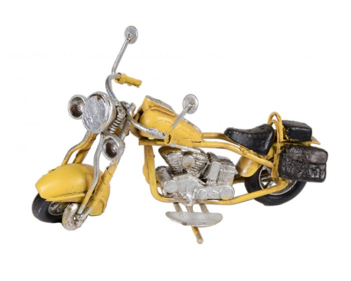 Vintage Διακοσμητική Μεταλλική Μηχανή - Κίτρινη