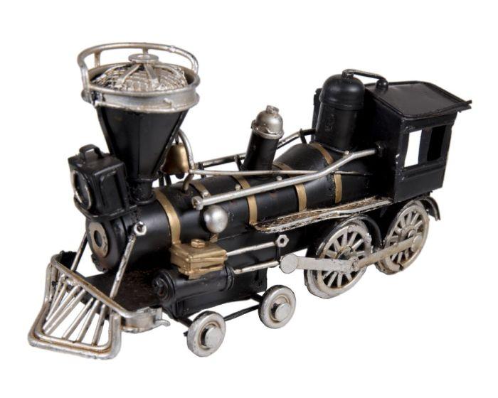 Vintage Διακοσμητικό Μεταλλικό Τρένο - Μαύρο