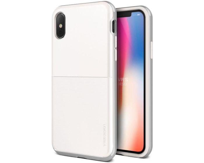 VRS Design High Pro Shield Case (VRSIP8-HPSWS) White / Silver (iPhone X / Xs)
