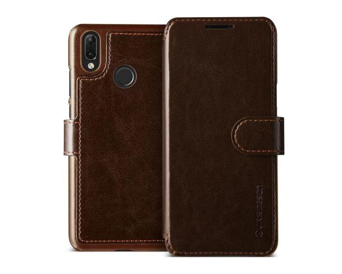 VRS Dandy Layered Wallet Case PU Leather Θήκη Πορτοφόλι Brown (Huawei P20 Lite)