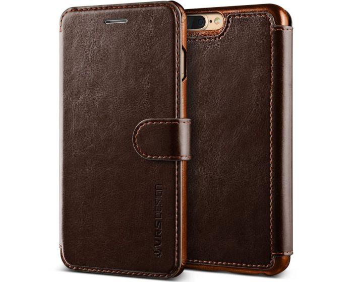 VRS Dandy Layered Wallet Case PU Leather Θήκη Πορτοφόλι Brown (iPhone 7 Plus / 8 Plus)