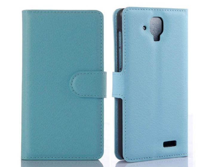 Θήκη Πορτοφόλι Wallet Case Blue (Lenovo A536)