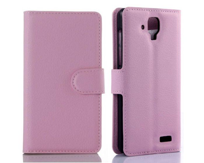 Θήκη Πορτοφόλι Wallet Case Pink (Lenovo A536)