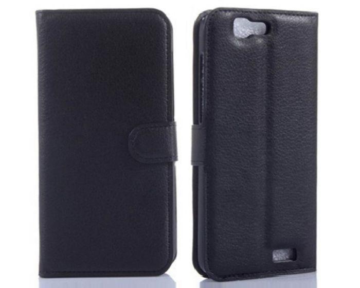 Θήκη Πορτοφόλι Wallet Case Black (Huawei Ascend G7)