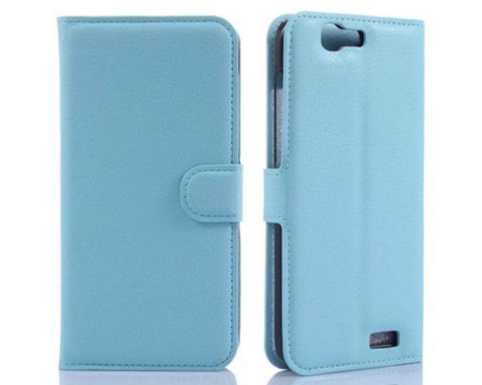 Θήκη Πορτοφόλι Wallet Case Blue (Huawei Ascend G7)