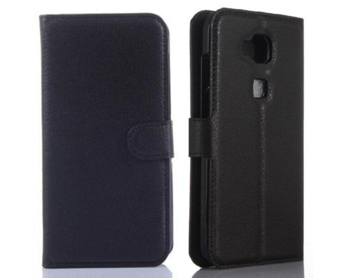 Θήκη Πορτοφόλι Wallet Case Black (Huawei Ascend G8)