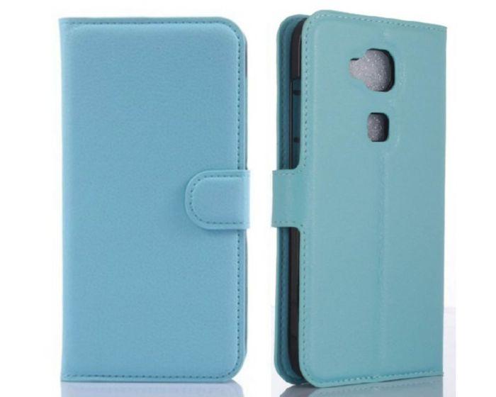 Θήκη Πορτοφόλι Wallet Case Blue (Huawei Ascend G8)