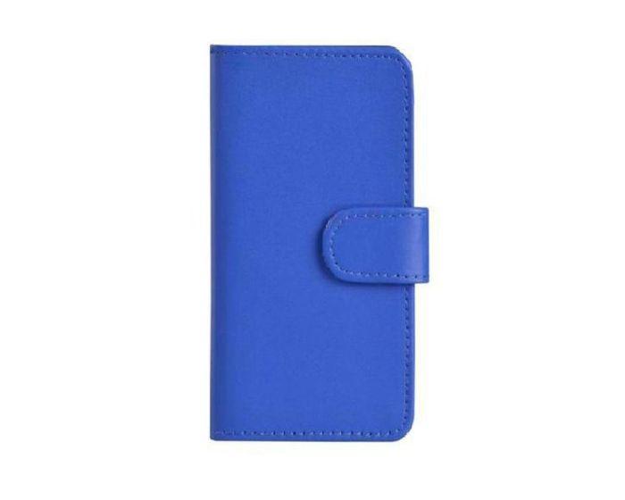 Wallet Case Θήκη Πορτοφόλι με Δυνατότητα Stand + Μεμβράνη Οθόνης Μπλε (Sony Xperia E4g)