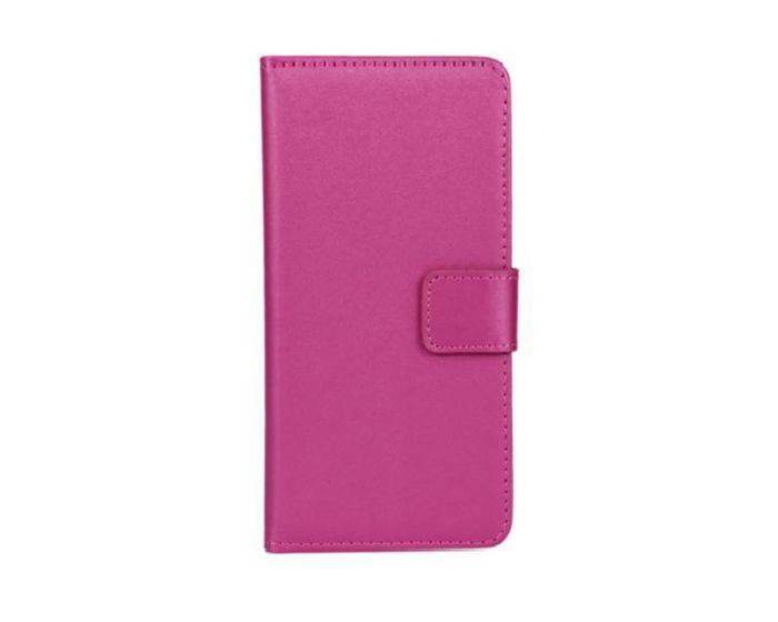 Wallet Case Θήκη Πορτοφόλι με Δυνατότητα Stand + Μεμβράνη Οθόνης Ροζ (Samsung Galaxy A8)
