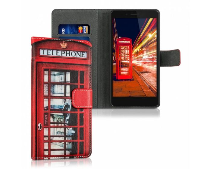 KWmobile Wallet Case Θήκη Πορτοφόλι με δυνατότητα Stand (37537.02) Phone Booth (Huawei Honor 5X)