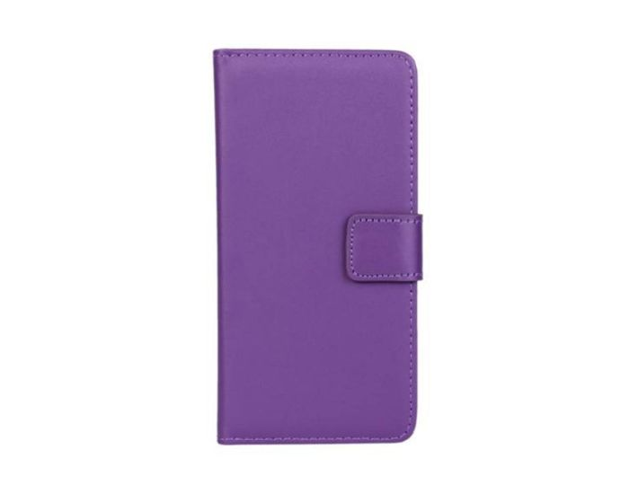 Wallet Case Θήκη Πορτοφόλι με Δυνατότητα Stand + Μεμβράνη Οθόνης Μωβ (HTC One A9)