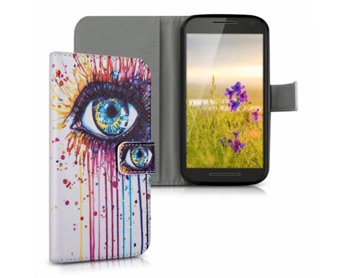 KWmobile Wallet Case Θήκη Πορτοφόλι με δυνατότητα Stand (34861.02) The Eye (Motorola Moto G 3rd Gen)