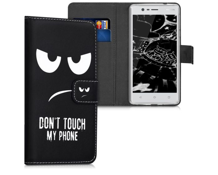 KWmobile Wallet Case Θήκη Πορτοφόλι με δυνατότητα Stand (42663.01) Don't touch my phone (Nokia 3)
