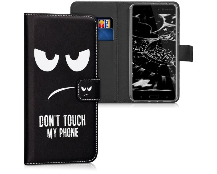 KWmobile Wallet Case Θήκη Πορτοφόλι με δυνατότητα Stand (42669.01) Don't touch my phone (Nokia 6)