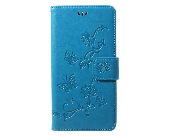 Butterfly Wallet Case με Δυνατότητα Stand - Blue (Motorola Moto G5s)
