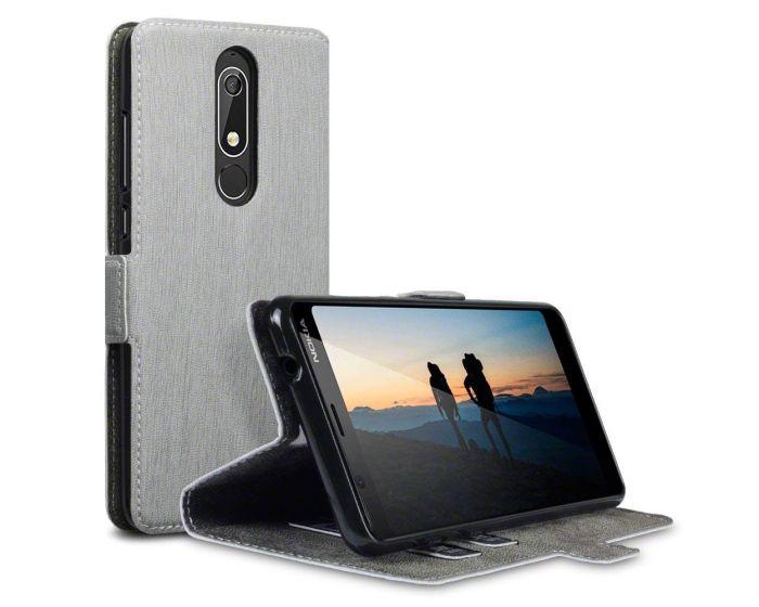 Terrapin Θήκη Πορτοφόλι Wallet Stand Case (117-001-297) Γκρι (Nokia 5.1 2018)