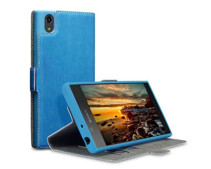 Terrapin Θήκη Πορτοφόλι Wallet Stand Case (117-005-518) Γαλάζια (Sony Xperia L1)