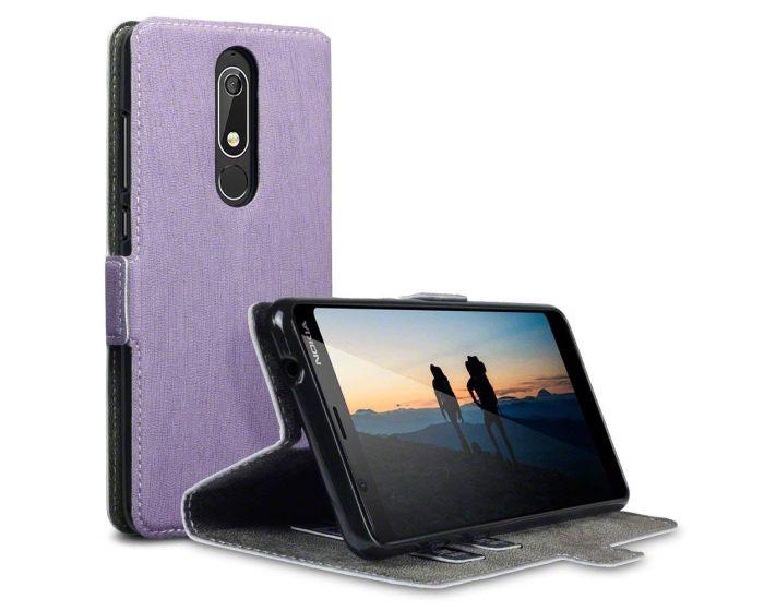 Terrapin Θήκη Πορτοφόλι Wallet Stand Case (117-001-295) Μωβ (Nokia 5.1 2018)