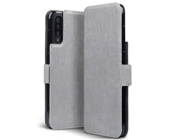 Terrapin Θήκη Πορτοφόλι Wallet Stand Case (117-002a-156) Γκρι (Samsung Galaxy A70)