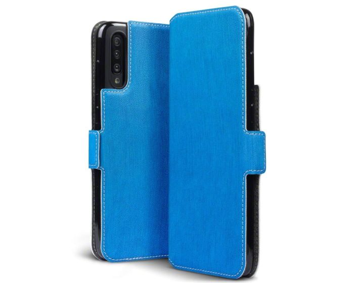 Terrapin Θήκη Πορτοφόλι Wallet Stand Case (117-002a-155) Γαλάζιο (Samsung Galaxy A70)