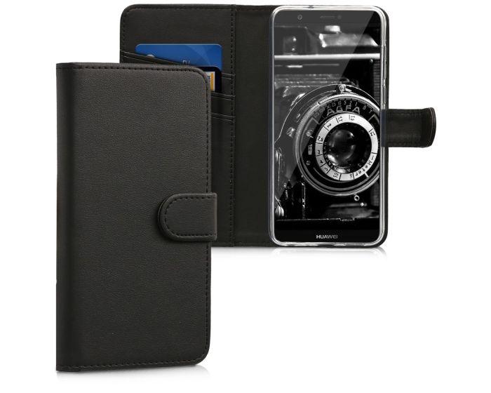 KWmobile Wallet Case Θήκη Πορτοφόλι με δυνατότητα Stand (44206.01) Black (Huawei P Smart)