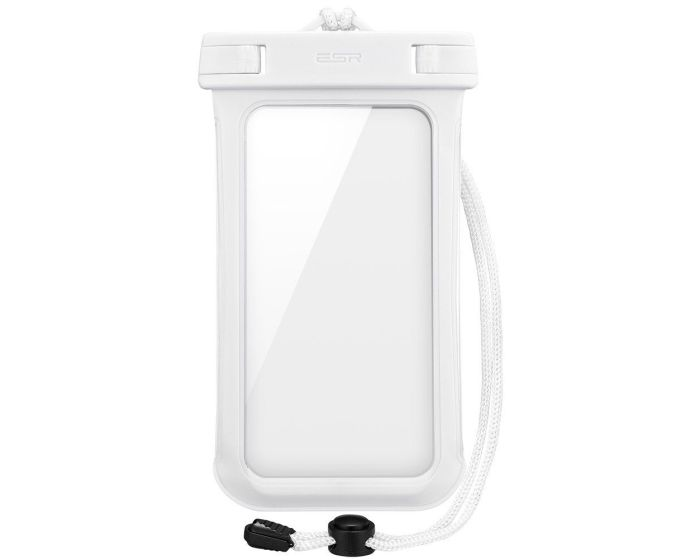 ESR Universal Waterproof Phone Case - Αδιάβροχη Θήκη για Κινητά έως 6'' (X001CCTQKL) White