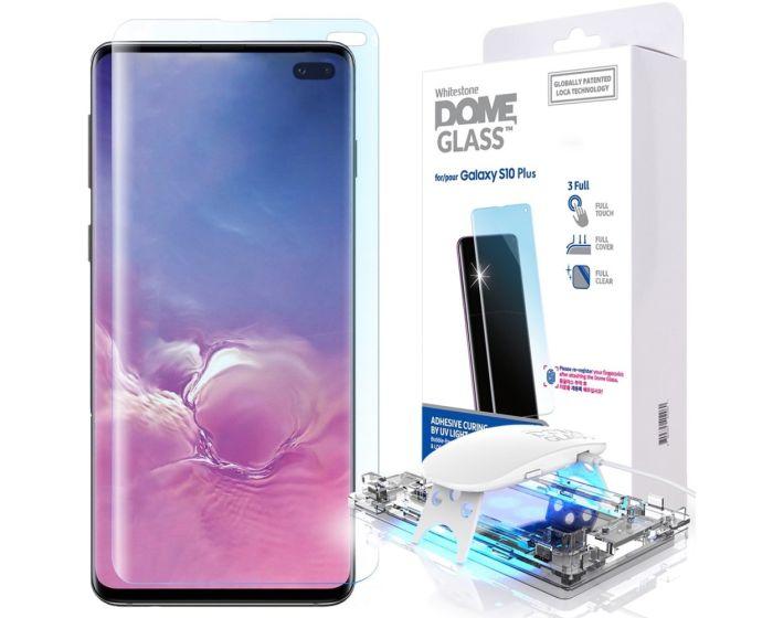 Whitestone Dome Glass (Liquid Dispersion Tech) Full Cover Tempered Glass Screen Protector (Samsung Galaxy S10 Plus)