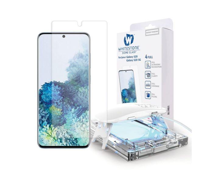 Whitestone Dome Glass (Liquid Dispersion Tech) Full Cover Tempered Glass Screen Protector (Samsung Galaxy S20)