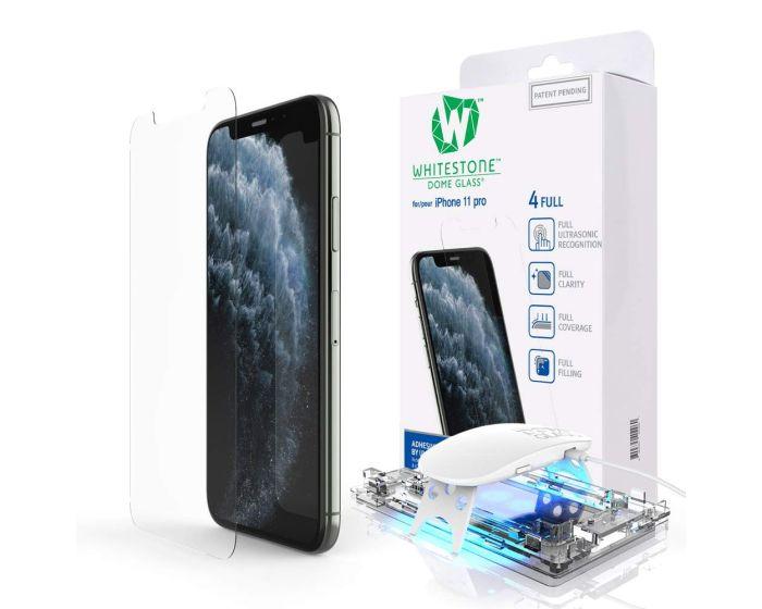 Whitestone Dome Glass (Liquid Dispersion Tech) Full Cover Tempered Glass Screen Protector (iPhone 11 Pro)