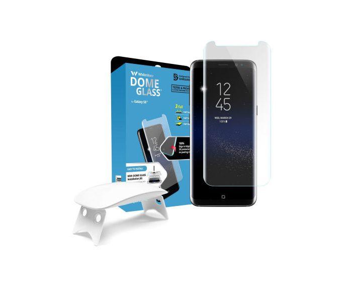 Whitestone Dome Glass (Liquid Dispersion Tech) Full Cover Tempered Glass Screen Protector (Samsung Galaxy S8 Plus)