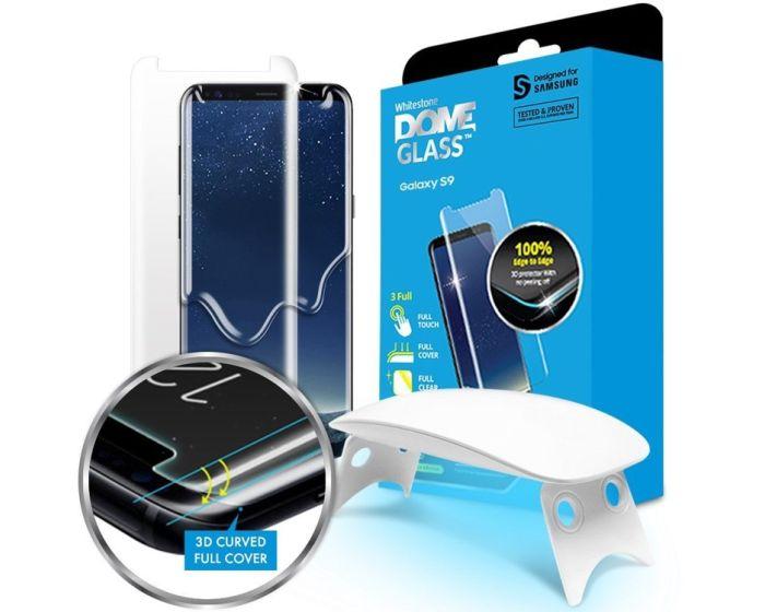 Whitestone Dome Glass (Liquid Dispersion Tech) Full Cover Tempered Glass Screen Protector (Samsung Galaxy S9 Plus)