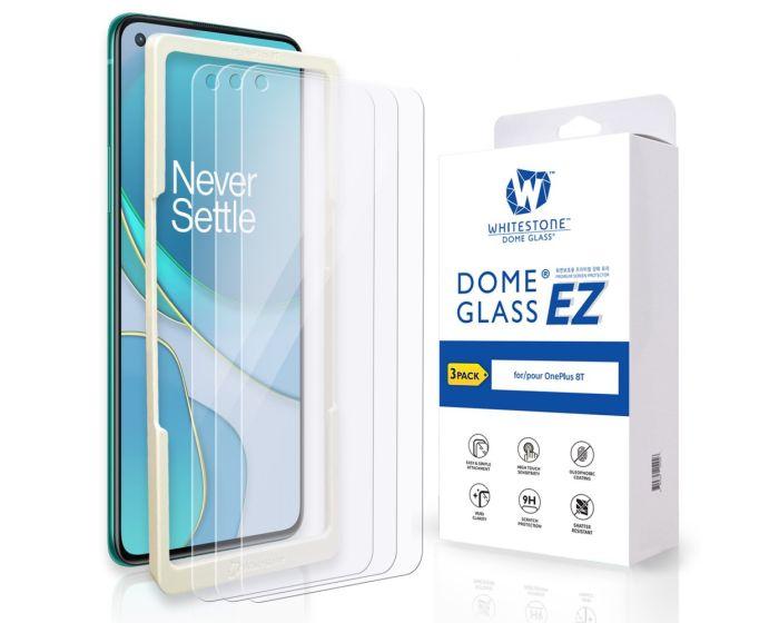 Whitestone Dome EZ Glass Tempered Glass 3-Pack με Πλαίσιο Εγκατάστασης (OnePlus 8T)