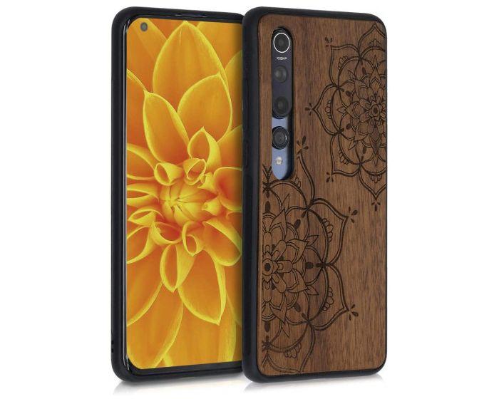 KWmobile Wooden Case Flower Twins (51808.02) Θήκη Ξύλινη Walnut (Xiaomi Mi 10 / Mi 10 Pro)