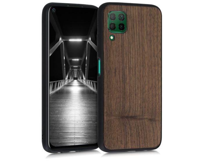 KWmobile Wooden Case (51670.18) Θήκη Ξύλινη Walnut Dark Brown (Huawei P40 Lite)