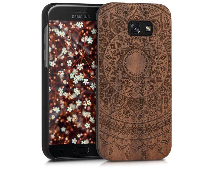 KWmobile Wooden Case Indian Sun (40716.01) Θήκη Ξύλινη Walnut (Samsung Galaxy A5 2017)
