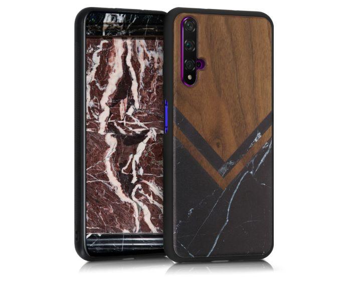 KWmobile Wooden Case Marble (51760.04) Θήκη Ξύλινη Walnut (Huawei Nova 5T / Honor 20)