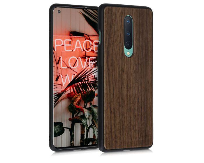 KWmobile Wooden Case (51870.18) Θήκη Ξύλινη Walnut Dark Brown (OnePlus 8)